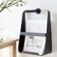 Magazine rack in black steel from House Doctor