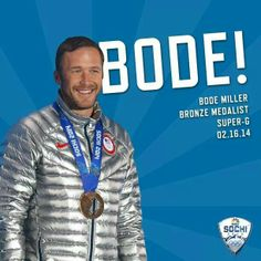 Bode Miller-Bronze apine skiing-2014 Sochi Olympics his 6th Olympic medal