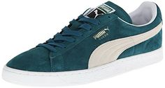 PUMA Suede Classic Sneaker,Deep Teal Green/White