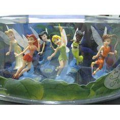 Disney Fairies 6 Figurine Set with Tinkerbell