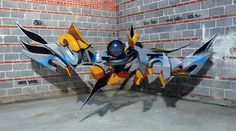 various colored graffiti by odeith