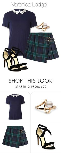 """Veronica Lodge - Riverdale"" by shadyannon ❤ liked on Polyvore featuring Dorothy Perkins, Burberry and Alexandre Birman"
