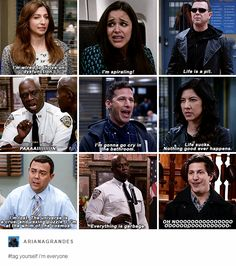 Brooklyn 99 is a show that somehow inspires extreme optimism through the haze of pessimism thank you very much Brooklyn Nine Nine Funny, Brooklyn 9 9, Fandoms, Series Movies, Tv Series, Parks N Rec, Bae, Best Shows Ever, New Girl