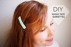 DIY Washi Tape Barrettes Tutorial