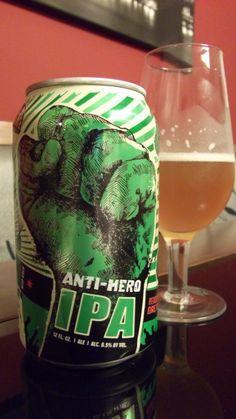 Cerveja Revolution Anti-Hero IPA, estilo India Pale Ale (IPA), produzida por Revolution Brewing , Estados Unidos. 6.5% ABV de álcool.