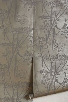 Queen Anne's Lace Wallpaper #anthropologie - The darker side of Elsa, and the lighter counterpart available also!