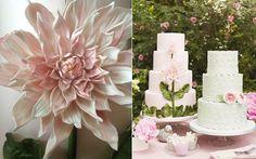 dahlia wedding cake, Cakes by Krishanthi, Photo by Meg McKay for Wedding Magazine