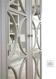 Mirror inlayed door