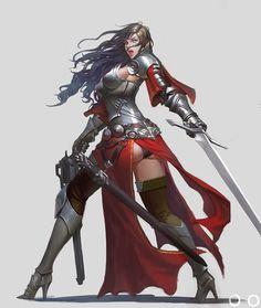 Fantasy Female Warrior, Female Knight, Warrior Girl, Fantasy Armor, Female Art, Female Character Design, Character Design Inspiration, Character Art, Fantasy Art Women