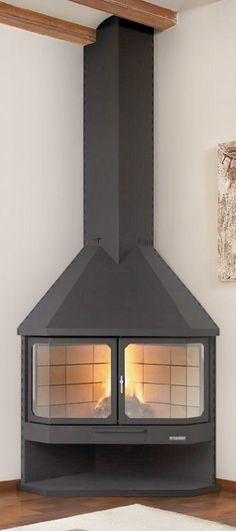 ¿Estás buscando chimeneas de esquina de diseño? Te enseño una serie de chimeneas de esquina de diseño muy decorativas de la firma catalana Traforart.