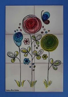 Bodegones y Flores Murales de Cerámica
