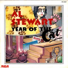 Art Deco album cover for Al Stewart's Year of the Cat.