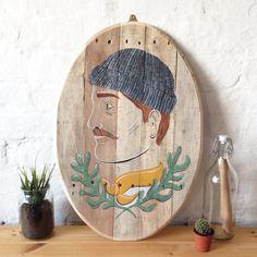 Uomo di mare  originale dipinto su legno di CarolineDowsett