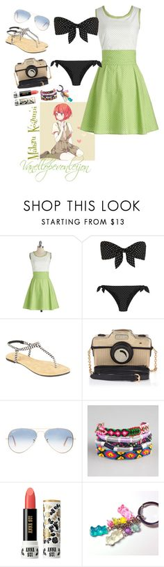 """Mahiru Koizumi Swimwear"" by vanellopevonleijon ❤ liked on Polyvore featuring Bea & Dot, Dolce&Gabbana, dELiA*s, Accessorize, Ray-Ban, Full Tilt, Anna Sui and DanganRonpa"