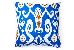 Ikat 20x20 Outdoor Pillow, Blue on OneKingsLane.com