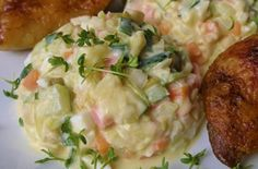 Salát z cukety - Recepty - ŽENY S.R.O. Potato Salad, Potatoes, Cooking, Ethnic Recipes, Veggies, Kitchen, Potato, Cuisine