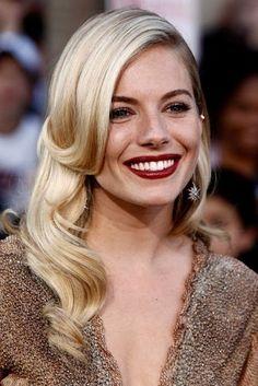 Sienna Miller's Bordeaux lip   style.