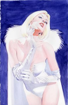 Emma Frost by Mike Mayhew * Female Superheroes And Villains, Female Comic Characters, X Men, Queen Images, Emma Frost, Comics Girls, Illustration Sketches, Dark Horse, Gi Joe