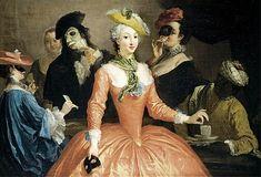 «Боже,комедия Твоя-комедия дель арте...»- Эпоха масок.Полночь!Lorenzo Tiepolo(1736- 1776).