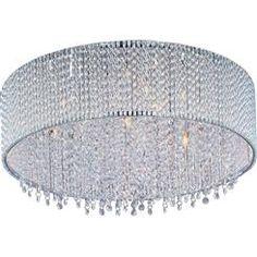 Spiral 7 Light Flush Mount Ceiling Fixture Bulbs Included
