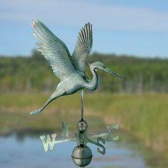 Graceful Heron Weathervane
