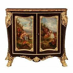 French 19th Century Louis XV St. Belle Époque Period Ormolu Mounted Cabinet Attributed To Henri Dasson