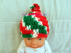 Hand Crocheted Baby Christmas Hat