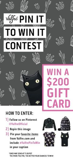 WIN A $200 Gift Card! How to enter: 1. Follow us on Pinterest @ValfreOfficial 2. Repin this image 3. Pin your favorite items from valfre.com and include #ValfrePinToWin in your caption **Ends May 22nd at 11:59 PST