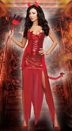 5069262250a Red Dress Style Demon Costume Outfits Fantasia Adult Halloween Role Playing  Sexy Devil Costumes For Women