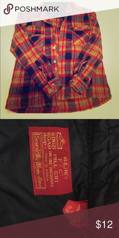 Men's Flannel! Men's Flannel, I am a size small and bought this flannel because I love men flannels better(: 85%wool 15%Nylon! Really fun to wear and really warm!(: Intact condition! Tops Button Down Shirts