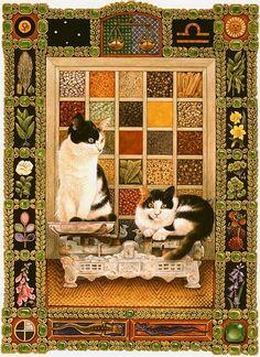 貓咪十二星座插畫 7