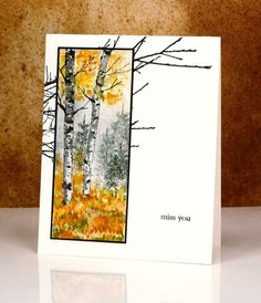 Nature's Silhouettes, Prancers, Into the sky: PB, watercolor, brushos, distress inks, Heather Telford
