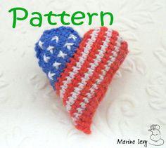 Crocheted American Heart  pattern/tutorial for от CreatedByMarina