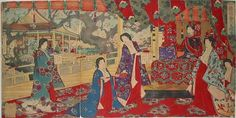 豊原周延: Yamato Brocade- Spring Celebration — 倭錦春乃寿 - Japanese Art Open Database