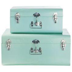 Conjunto de 2 baúles azules
