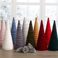 LARGE Single Velvet or Fabric Tree modern farmhouse decor, holiday mantle decor, Christmas centerpiece, wedding decor, best selling item Cone Trees, Cone Christmas Trees, Christmas Crafts, Christmas Decorations, Christmas Ideas, Christmas Stuff, Holiday Ideas, Holiday Decorating, Christmas 2019