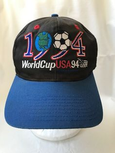 Vintage 1994 World Cup USA Snap Back Soccer Baseball Cap Hat   TwinsEnterprise  BaseballCap 9cc2cccbec55