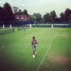 If you aren't lucky enough to be a Wimbledon ticket-holder, check out the action on ESPN starting Monday, June 24, 2013. Just love this never-say-die player: Serena Williams mid-practice session.