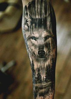 90 coolste Unterarm-Tätowierungsentwürfe für Männer und Frauen die Sie wünschen dass Sie haben #Tattoos Wolf Tattoos, Animal Tattoos, Leg Tattoos, Body Art Tattoos, Tattos, Wolf Tattoo Design, Forearm Tattoo Design, Trendy Tattoos, Tattoos For Guys