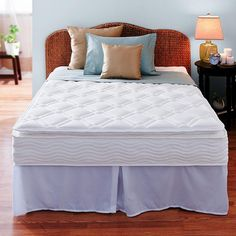 Night Therapy 10 Inch Pillow Top Spring Complete Mattress Set-King - Home - Mattresses - All Mattresses - Mattress Sets