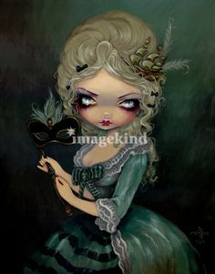 Marie Antoinette Masquerade by Jasmine Becket-Griffith