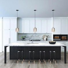 Marit pendant in smoked nickel glass, Silver #kitchendesign #whitekitchen