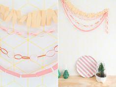 DIY paper garlands