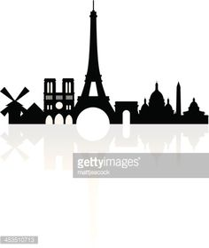 Arte vectorial : Paris skyline