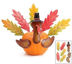Turn your fall pumpkin into a turkey with this fun TURKEY parts kit! What a creative Thanksgiving centerpiece or decoration.. We love that you can use the parts year after year!