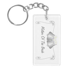 Silver bells with flowers #mother of the bride #wedding favor key chain