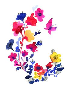 florals by miss Capricho, via Flickr