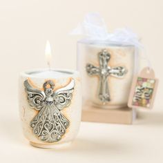 These religious votive candle favors are the perfect way to show gratitude to your party guests.
