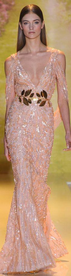 Zuhair Murad Haute Couture | S/S 2014  // Me gustó mucho el toque del cinturon de flores