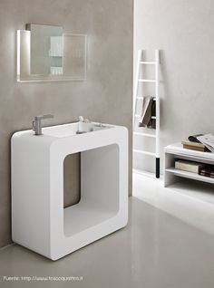 bathroom, Modeorn White Bathroom Basin Design Ideas For Modern White Italian Bathroom Design Ideas With Mirror And White Bathroom Wall Design And White Bathroom Floor Design: Various Kind Of Bathroom Vanity in Modern Italian Bathroom Design